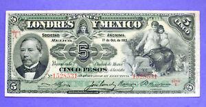 Mexico-EL-BANCO-DE-LONDRES-Y-MEXICO-5-PESOS-1913-P-S233
