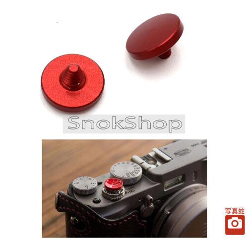 2x RED CONVEX SOFT SHUTTER RELEASE BUTTON FOR FUJI X100 100S LEICA M4 M6 M7