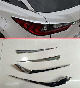 Rear Light Cover Trim for 2016-2017 Lexus RX350 RX450h Tail Light Trims Matte