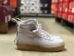 check out 77b96 b4586 Details about Nike Air Force 1 SF Mid Womens Shoes Vast Grey/Tan AA3966-005  NEW Multiple Szs