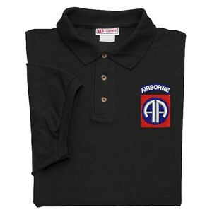 82ND-AIRBORNE-DIVISION-CREST-EMBROIDERED-BLACK-POLO-SHIRT