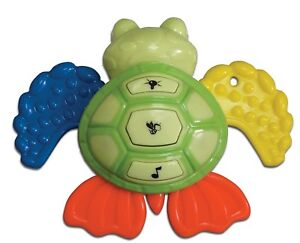 Small-World-Toys-IQ-Baby-Baby-Buzz-039-r-Sea-Turtle-Teether-Toy-3-months