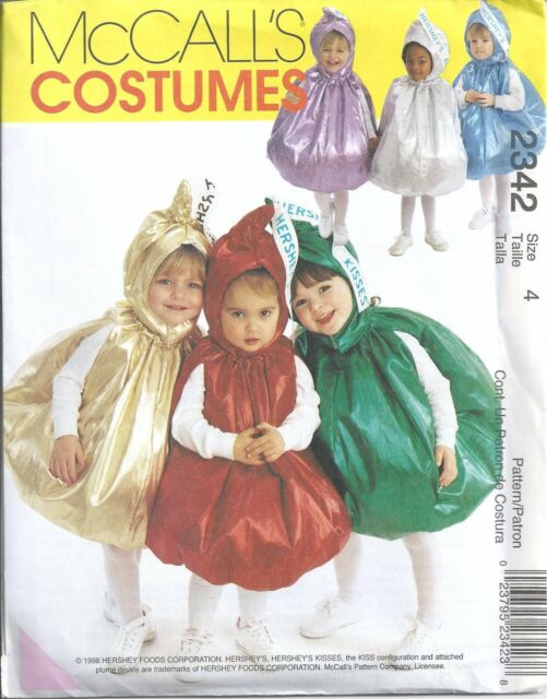 McCall's Sewing Pattern # 2342 Toddler's Hershey's Kisses Costume Size 4