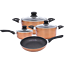 7-pieces-cookware-set-marbre-Revetement-induction-cuisson-antiadhesif-Aluminium-pots-casseroles miniature 1