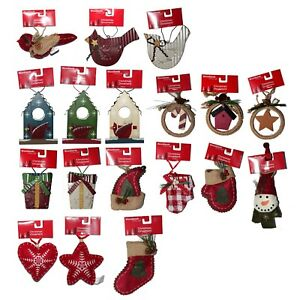 HOLIDAY-STYLE-1-Ornament-WOODLANDS-Rustic-CHRISTMAS-DECOR-Country-YOU-CHOOSE
