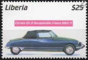 Marque De Tendance 1960-1971 Citroen Ds.21 Decapotable Comme Neuf Automobile Voiture Timbre (2001 Libéria)-afficher Le Titre D'origine AgréAble à GoûTer