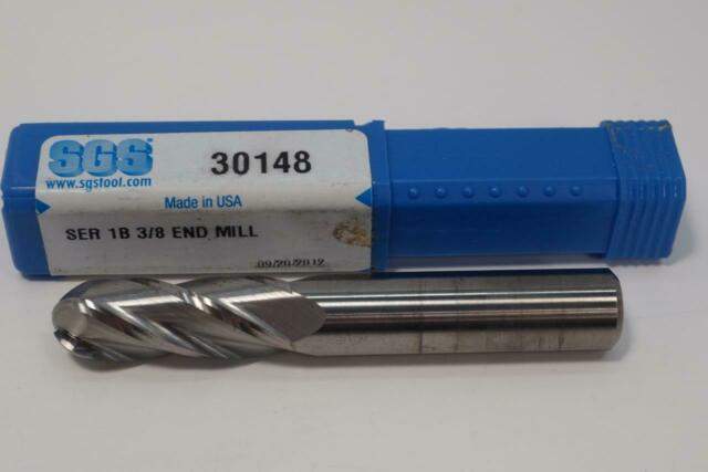 """New Kyocera SGS USA Series 1B 3//8/"""" Solid Carbide 4fl Ball Nose End Mill 30148"""