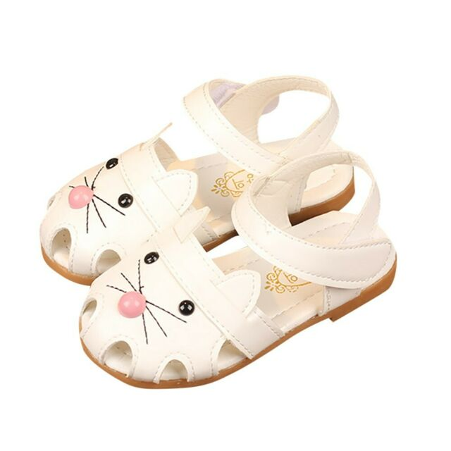 Kids Toddler Baby Girl Cat Sandals Summer Princess Single Shoes Leather Sneakers
