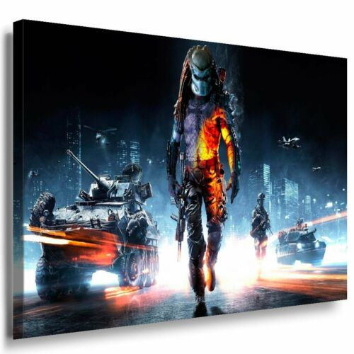 Meh... Predator Battlefield Game Leinwandbild Leinwand Bild LaraArt Bilder