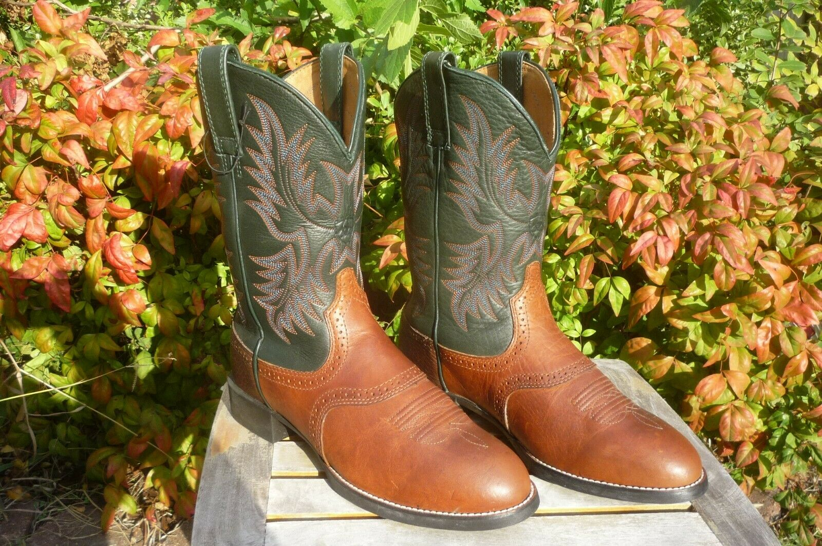 Green Extra Wide Cowboy Boots 34928
