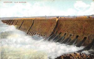 POSTCARD-EGYPT-ASSOUAN-Nile-barriage