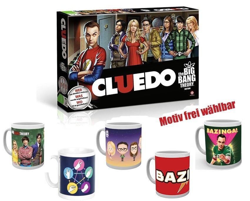 Cluedo the Big Bang Theory Board Game + Zusatzartikel Cup Keyring New