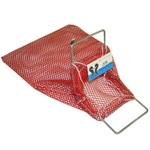 Adroit Small Galvanized Wire Handle Mesh Collection Bag, 10x16