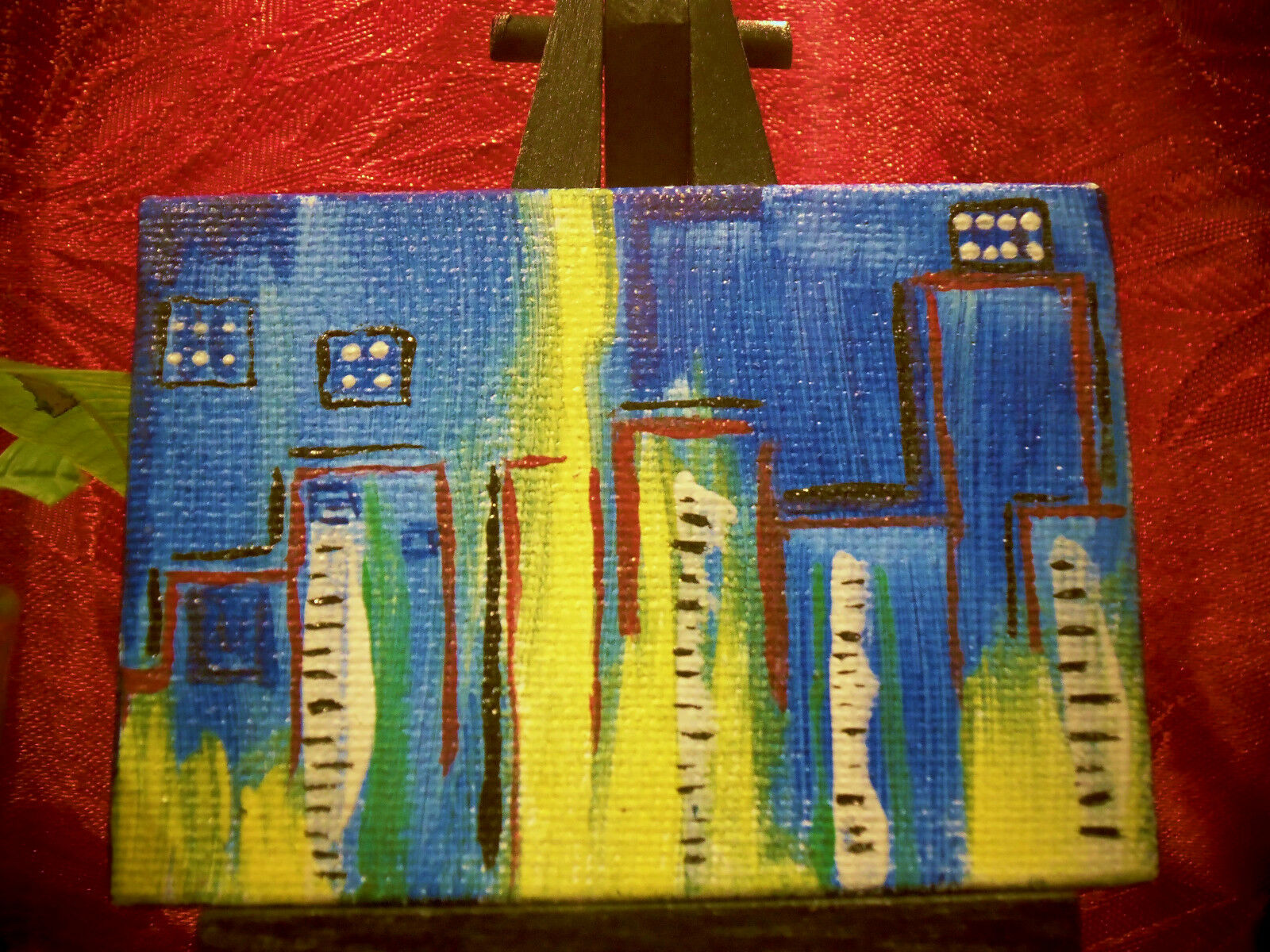 ACEO Painting ORIGINAL ABSTRACT PAINTING Dollhouse Miniature OOAK