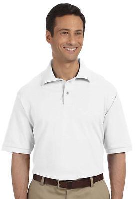 Jerzees Mens Welt Knit Collar Two Button Polo Shirt