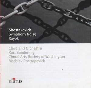 Details about CD ELATUS 0927-49621-2 Shostakovich