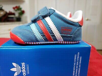 Adidas Infant Dragon Comfort crib shoe LEARN 2 WALK M20661 Pink Sz 3k. New | eBay