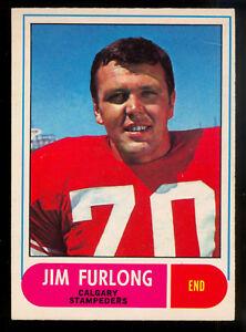 1968-OPC-O-PEE-CHEE-CFL-FOOTBALL-79-Jim-Furlong-EX-NM-Calgary-Stampeders