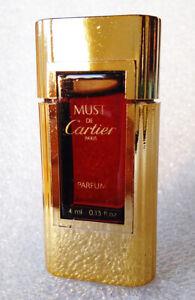 RARE-Mini-Pure-Perfume-MUST-de-CARTIER-Extrait-Parfum-FRANCE-4ml