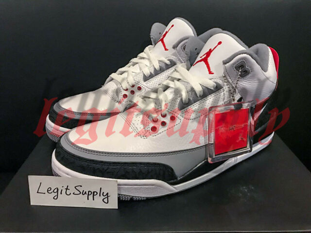 on sale 05061 30f97 SHIP NOW Nike Air Jordan 3 Retro Tinker Hatfield NRG 8-13 White Red AQ3835
