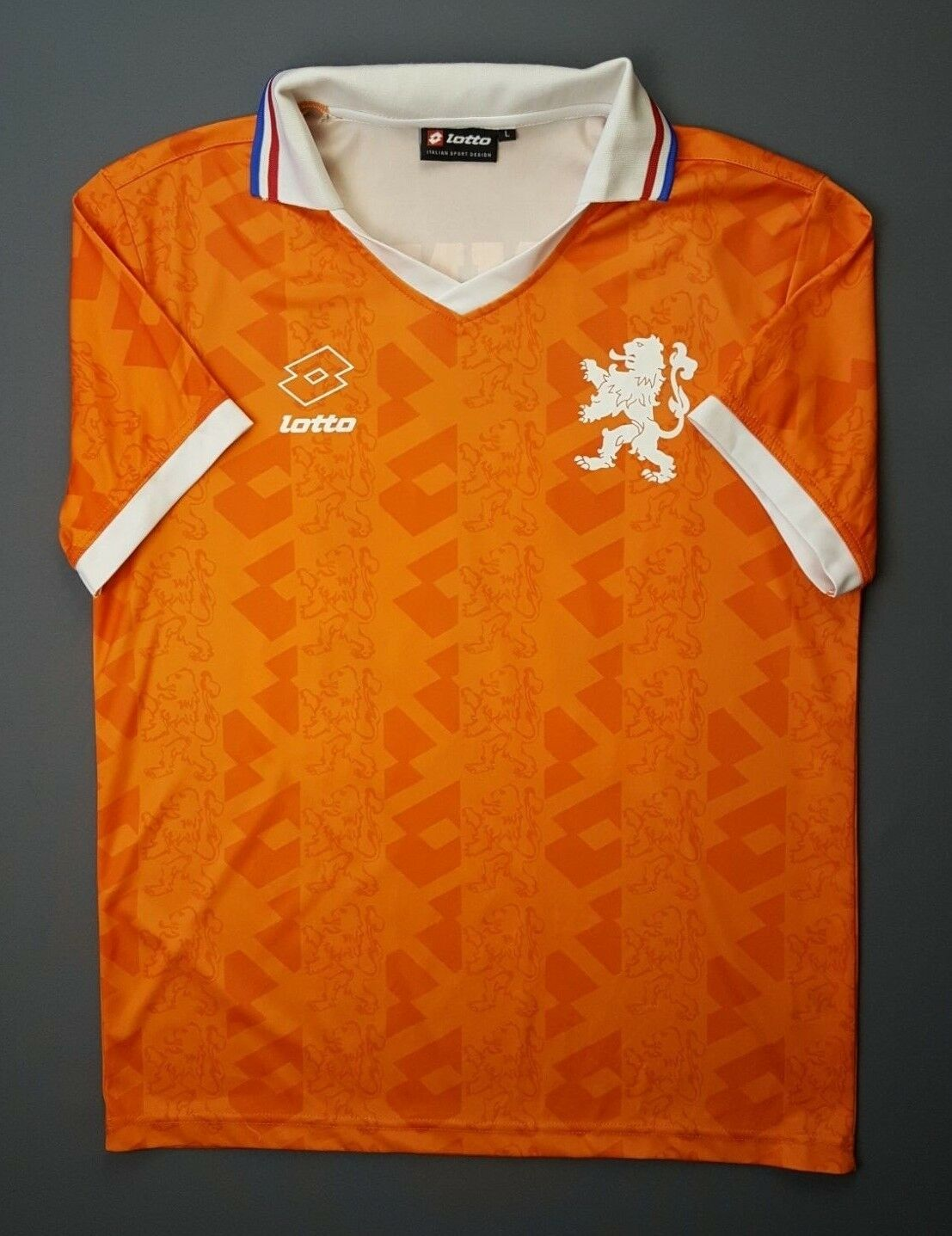 4.9 5 Holland Netherlands jersey fun version LARGE 1992 1993 home shirt Lotto