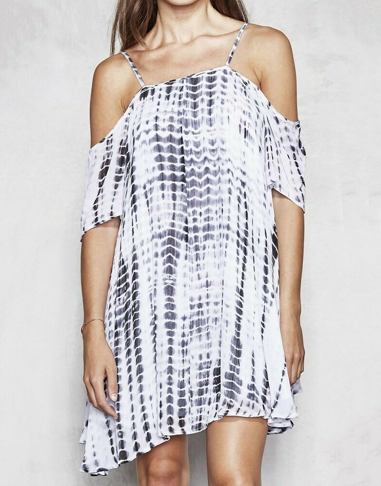 Bnwt Femme Religion Symbolique Off épaule Robe White Tie Dye M Uk 12 Rrp £ 75