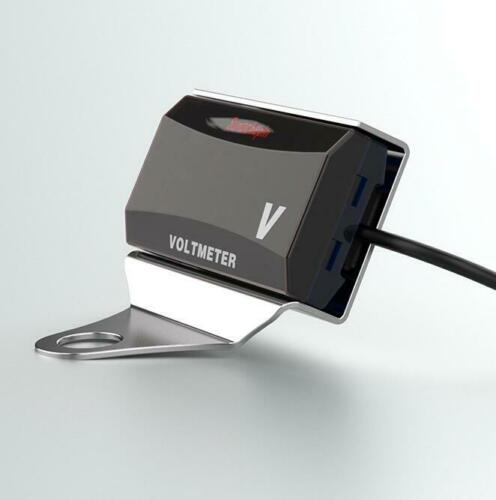 Waterproof LED Digital Display DC 10V-150V Motorcycle White Bracket+Voltmeter