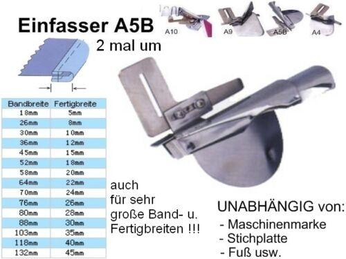 Einfasser A5B Schrägband 26 zu 8 mm UNIVERSELL passend!