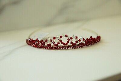 Bellissimo Cristallo Ab & Rosso Con Perline Diadema Da Linzi Jay-matrimonio Prom-mostra Il Titolo Originale Per Produrre Un Effetto Verso Una Visione Chiara