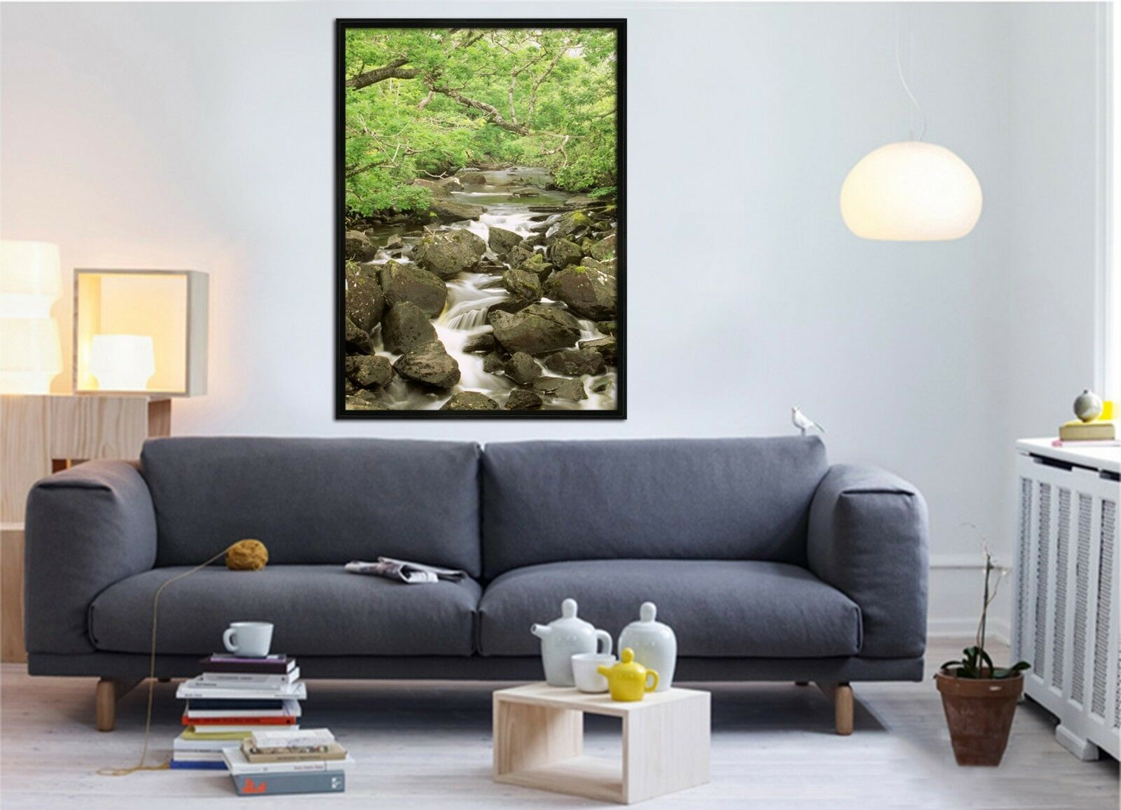 3D Stone Creek 45 Fake Framed Poster Home Decor Print Painting Unique Art