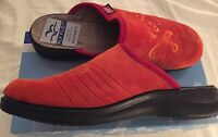 Fly Flot Size 40eu 9us Orange Suede musical Notes Suede Mule Shoes