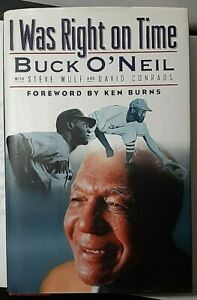 I-Was-Right-on-Time-Signed-by-Buck-O-039-Neil-Autographed-Hardback-1st-Ed-HOF-Auto