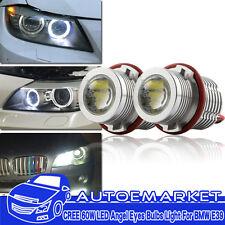 120W Total High Power CREE LED Angel Eyes Halo Ring Light Bulbs For BMW E39/E60