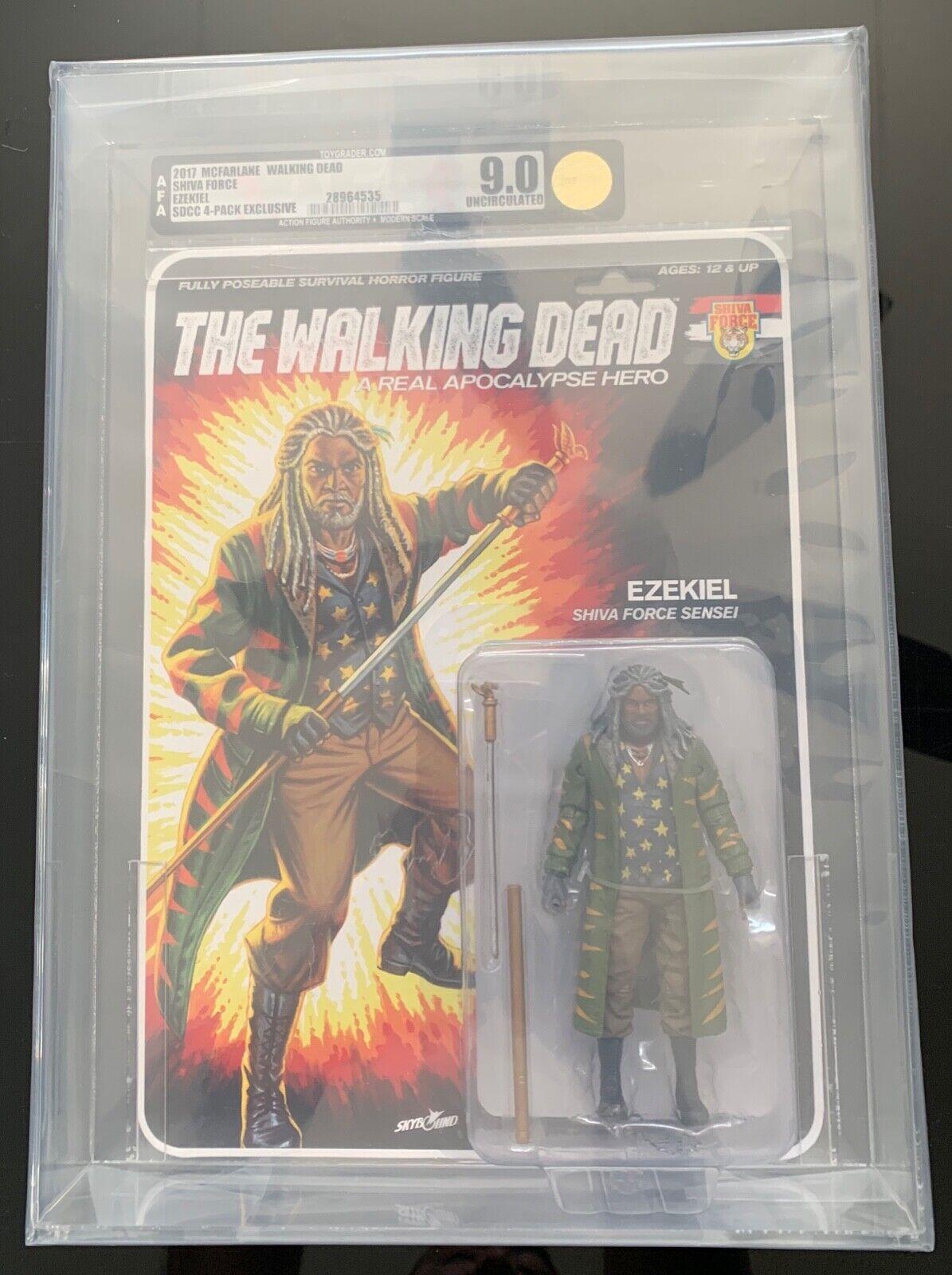 Walking Dead G.i. Joe Ezequiel San Diego comic-con 17 McFarlane Shiva fuerza Figura de Acción autoridad Uncirculated U9.0