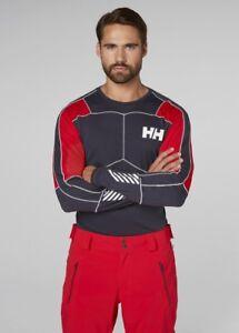 Helly-Hansen-Hh-Lifa-Active-Top-Cuello-Redondo-48308-995-grafito-azul-NUEVO