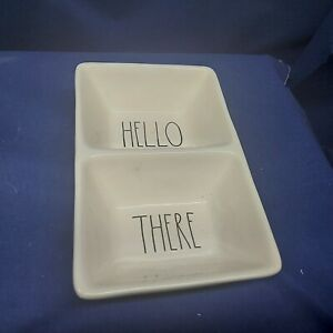"""RAE DUNN """"Hello There"""" Snack or Condiment Dish Artisan Collection by Magenta"""