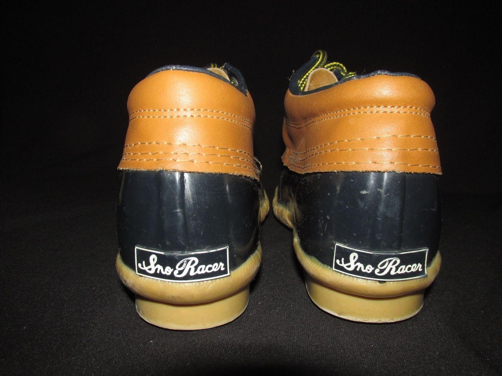 Sno Racer VTG Steel Shank Navy Brown Brown Brown Leather Low Duck Boot Garden  Women's 6M 2d5e57