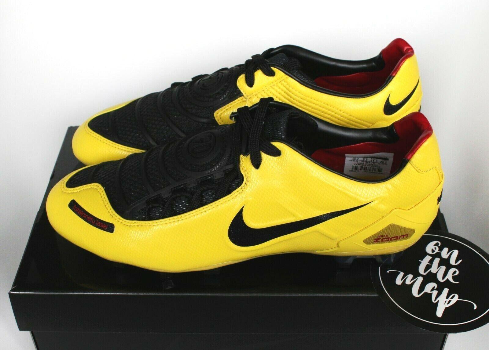 Nike Total 90 láser T90 FG botas 2019 remake Zest Negro Rojo Uk 5 6 9 10 EE. UU. nuevo