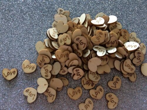 Christmas Crafts ❤️❤️ Wholesale 100  Wooden Love Hearts Craft Shape Wedding