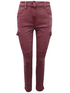 New-Ex-NEXT-Ladies-Girls-Rust-Skinny-Fit-Cargo-Jeans-Size-6-22
