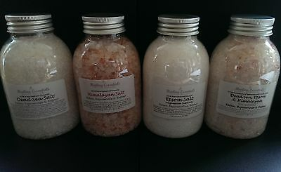Bath Salts Set - Dead Sea, Himalayan, Epsom, Combo Pure Natural Minerals / Spa/