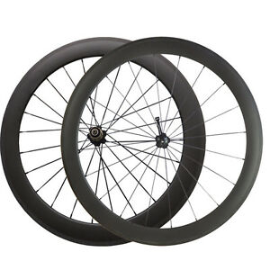 700C-50mm-60mm-Depth-Clincher-Bicycle-Carbon-Wheels-Cycling-Road-Bike-Wheelset