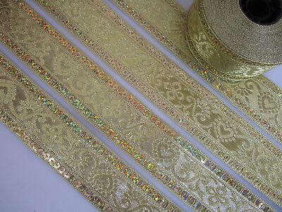 2 METER Borte Spitze Nichtelastisch Gold 2cm elegante top mode