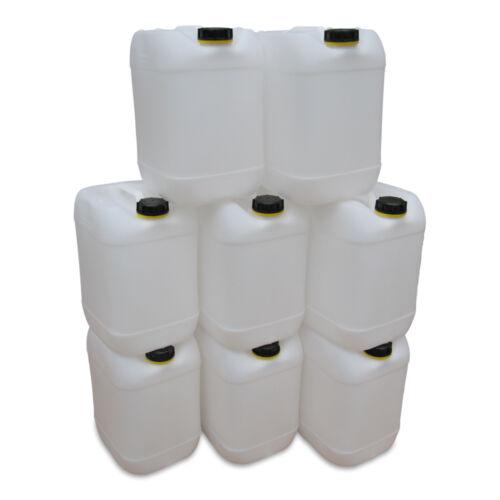 8 x 20 L natur Kanister Camping /& Outdoor Plastikkanister lebensmittelecht.