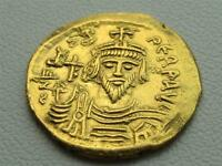 Focas . 602-610 Ancient Roman Gold Solidus coin . Phocas Byzantine Nice!