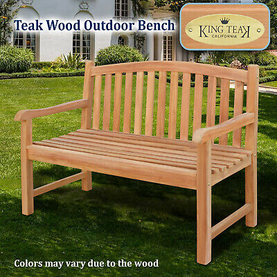 Strange Golden Teak Wood Garden Bench Outdoor Terrace Patio 4Ft Long Seating Furniture 8568814046 Ebay Gmtry Best Dining Table And Chair Ideas Images Gmtryco