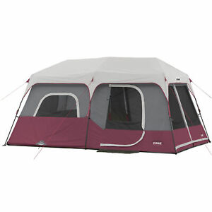 CORE-Instant-Cabin-14-x-9-Foot-9-Person-Cabin-Tent-with-60-Second-Assembly-Red
