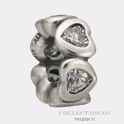 Authentic Pandora Sterling Silver Clear Space In My Heart Spacer 791252CZ