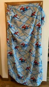 Marvel-2005-Spiderman-Twin-Fitted-Sheet-amp-2-Pillowcases