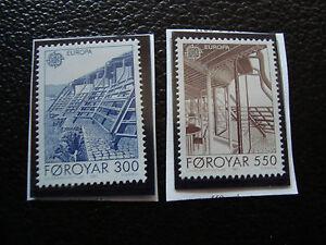 Inseln-Faeroeer-Briefmarke-Yvert-Und-Tellier-N-143-144-N-A22-Briefmarke